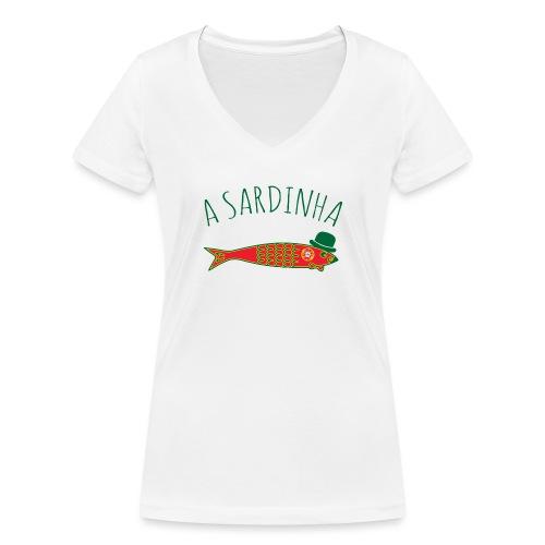 A Sardinha - Bandeira - T-shirt bio col V Stanley & Stella Femme