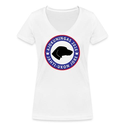 Ajokuningas t-paita - Stanley & Stellan naisten v-aukkoinen luomu-T-paita