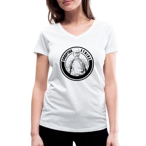 Albanien Kosovo Shqiptar Etnike Boletini - Frauen Bio-T-Shirt mit V-Ausschnitt von Stanley & Stella