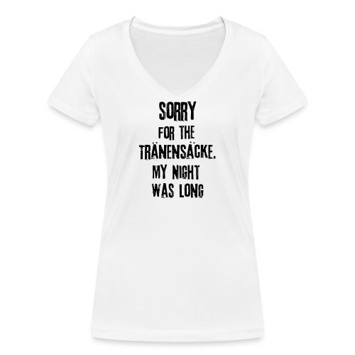 Die Nacht war lang - Frauen Bio-T-Shirt mit V-Ausschnitt von Stanley & Stella