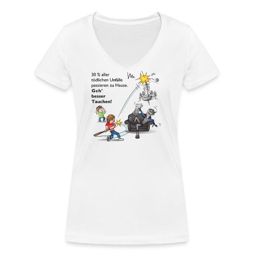 Unfall-Taucher Baseball - Frauen Bio-T-Shirt mit V-Ausschnitt von Stanley & Stella