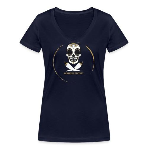 Logo HABANERO FACTORY - T-shirt ecologica da donna con scollo a V di Stanley & Stella