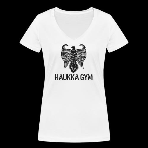 HAUKKA GYM LOGO - Stanley & Stellan naisten v-aukkoinen luomu-T-paita