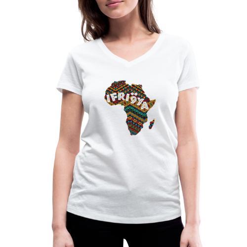 Africa - Ifriqya - T-shirt bio col V Stanley & Stella Femme