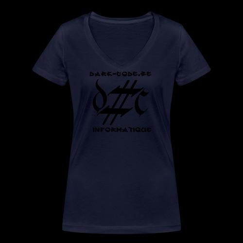 Dark-Code Black Gothic Logo - T-shirt bio col V Stanley & Stella Femme