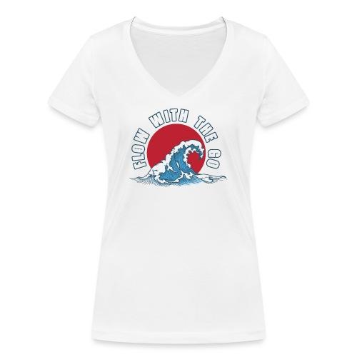 flow with the go - Ekologiczna koszulka damska z dekoltem w serek Stanley & Stella