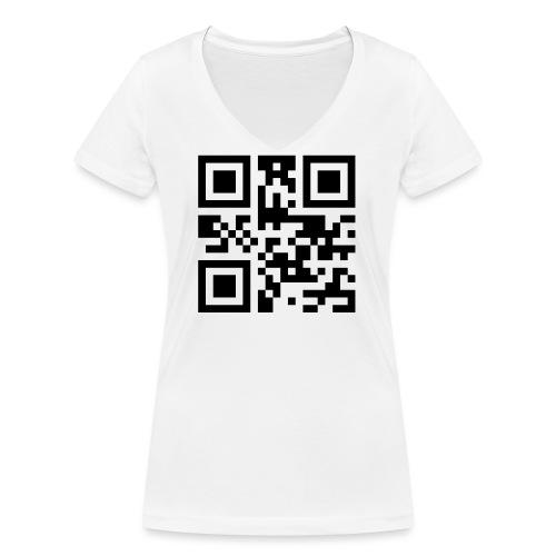 Sono Single QR Code - T-shirt ecologica da donna con scollo a V di Stanley & Stella