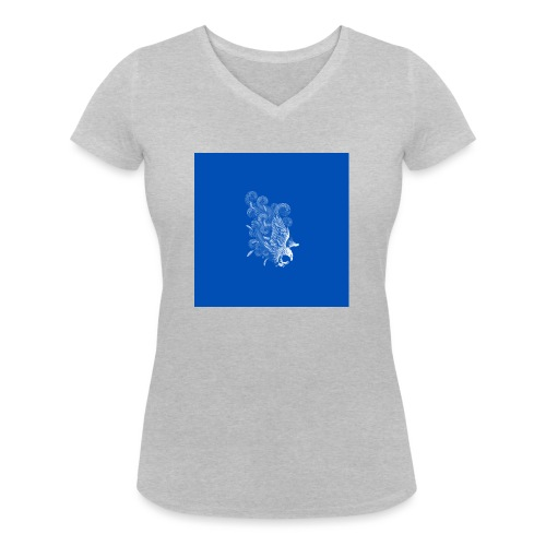 Windy Wings Blue - Women's Organic V-Neck T-Shirt by Stanley & Stella
