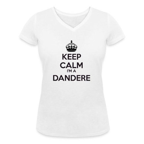 Dandere keep calm - Women's Organic V-Neck T-Shirt by Stanley & Stella