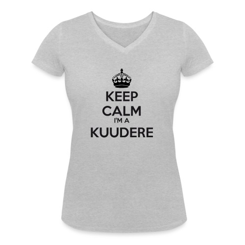 Kuudere keep calm - Women's Organic V-Neck T-Shirt by Stanley & Stella