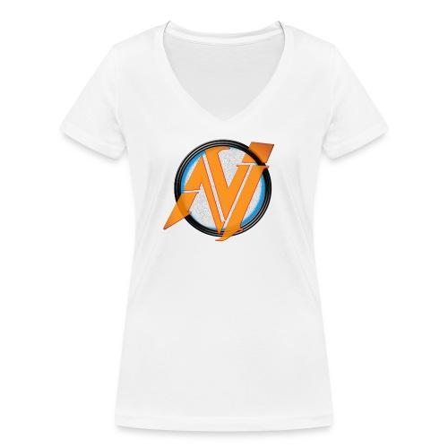 invi.rocks Logo - Frauen Bio-T-Shirt mit V-Ausschnitt von Stanley & Stella