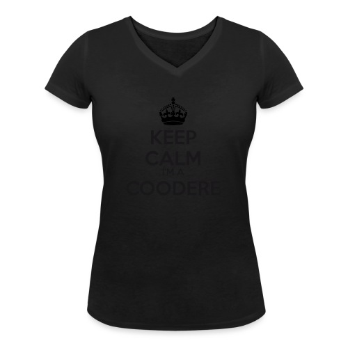 Coodere keep calm - Women's Organic V-Neck T-Shirt by Stanley & Stella