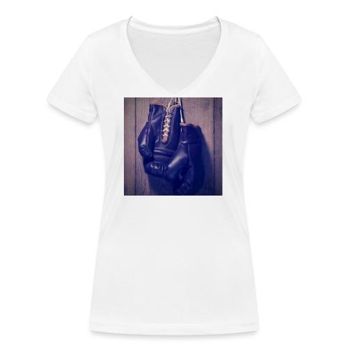 boxing - Frauen Bio-T-Shirt mit V-Ausschnitt von Stanley & Stella