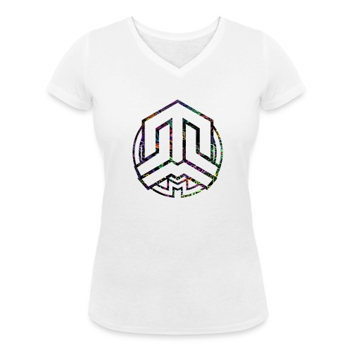 Cookie logo colors - Women's Organic V-Neck T-Shirt by Stanley & Stella