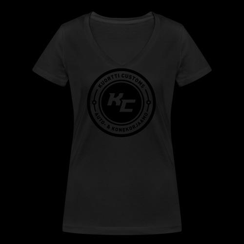 kc_tunnus_2vari - Stanley & Stellan naisten v-aukkoinen luomu-T-paita