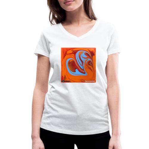 TIAN GREEN Mosaik DK005 - Herzenswelten - Frauen Bio-T-Shirt mit V-Ausschnitt von Stanley & Stella
