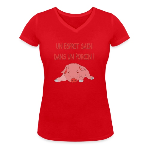 Porcitive Attitude - T-shirt bio col V Stanley & Stella Femme