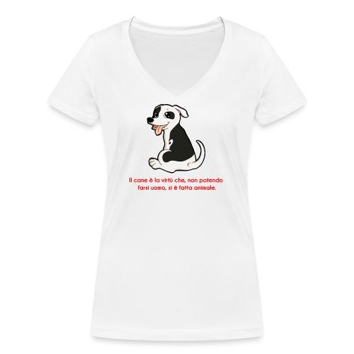 Aforisma cinofilo - T-shirt ecologica da donna con scollo a V di Stanley & Stella