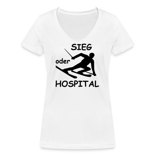 Sieg oder Hospital - Frauen Bio-T-Shirt mit V-Ausschnitt von Stanley & Stella
