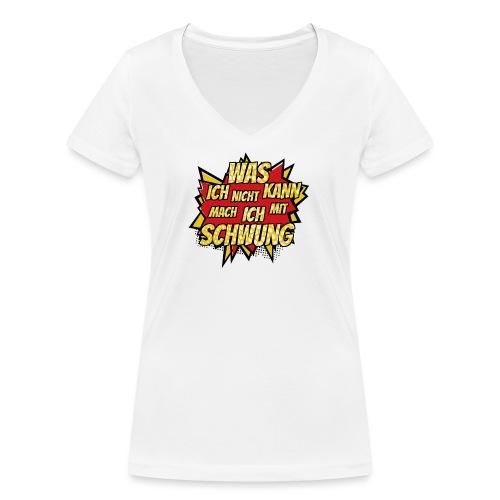 Mit Schwung - Frauen Bio-T-Shirt mit V-Ausschnitt von Stanley & Stella