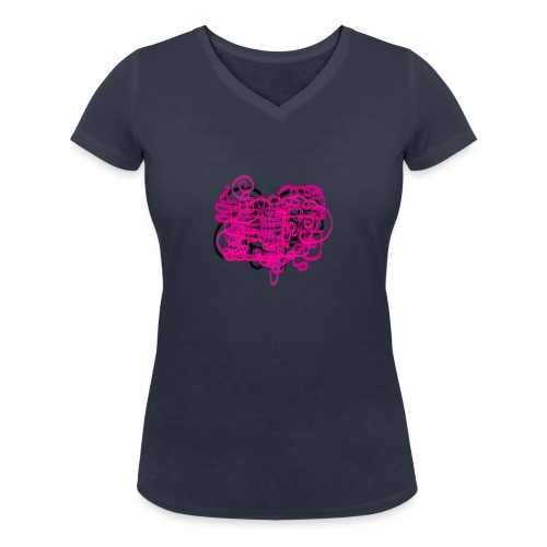 delicious pink - Women's Organic V-Neck T-Shirt by Stanley & Stella
