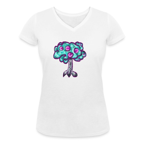 Neon Tree - Women's Organic V-Neck T-Shirt by Stanley & Stella