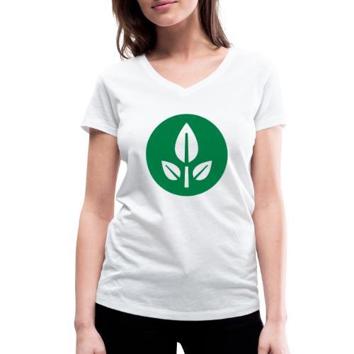 EVE Flower Plant Symbol - Women's Organic V-Neck T-Shirt by Stanley & Stella
