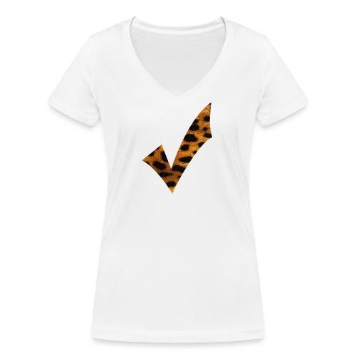 Check Leo - Frauen Bio-T-Shirt mit V-Ausschnitt von Stanley & Stella