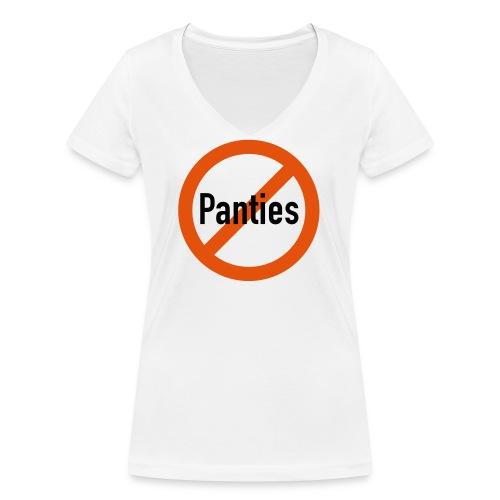 no panties - Frauen Bio-T-Shirt mit V-Ausschnitt von Stanley & Stella