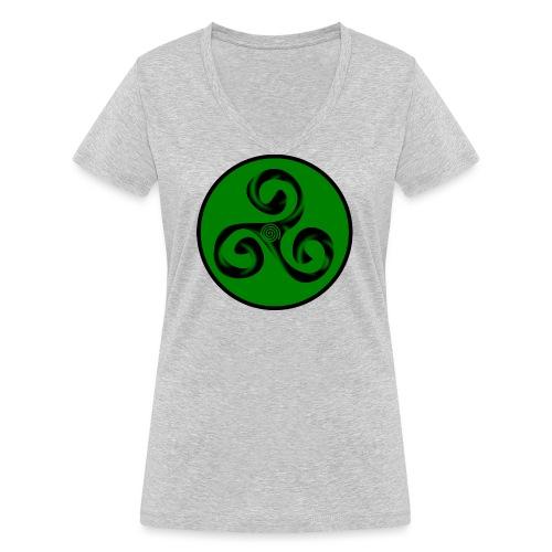 Triskel and Spiral - Camiseta ecológica mujer con cuello de pico de Stanley & Stella