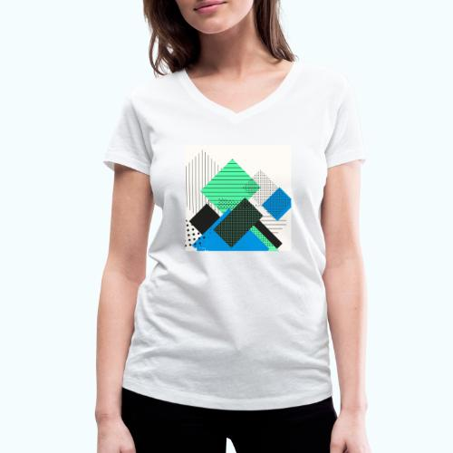 Abstract rectangles pastel - Women's Organic V-Neck T-Shirt by Stanley & Stella