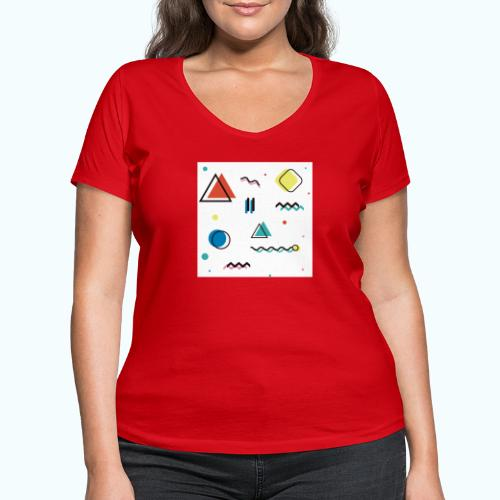 Abstract geometry - Women's Organic V-Neck T-Shirt by Stanley & Stella