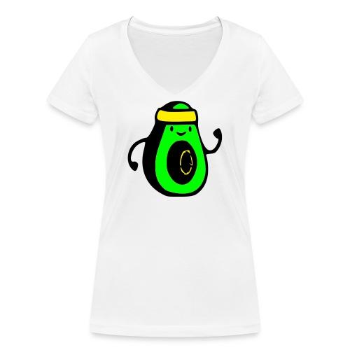 aguacate ninja - Camiseta ecológica mujer con cuello de pico de Stanley & Stella