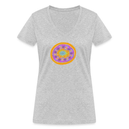 Mandala Pizza - Women's Organic V-Neck T-Shirt by Stanley & Stella