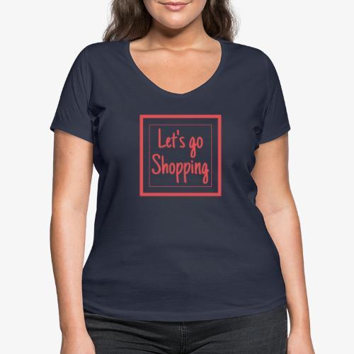 Let's go shopping - T-shirt ecologica da donna con scollo a V di Stanley & Stella