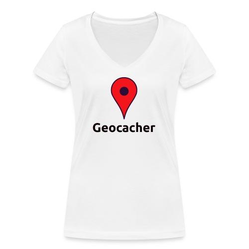 Geocacher - Frauen Bio-T-Shirt mit V-Ausschnitt von Stanley & Stella