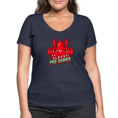 Almost pro gamer RED - T-shirt ecologica da donna con scollo a V di Stanley & Stella