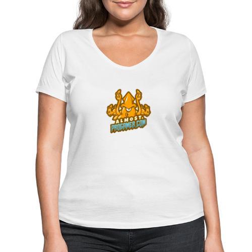 gaming logo maker featuring a squid monster 1847f - T-shirt ecologica da donna con scollo a V di Stanley & Stella