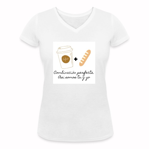 Combinacion perfecta - Camiseta ecológica mujer con cuello de pico de Stanley & Stella