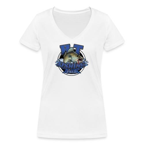 HT Fishing Team - Stanley & Stellan naisten v-aukkoinen luomu-T-paita