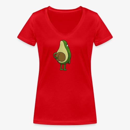 Avokado - Frauen Bio-T-Shirt mit V-Ausschnitt von Stanley & Stella