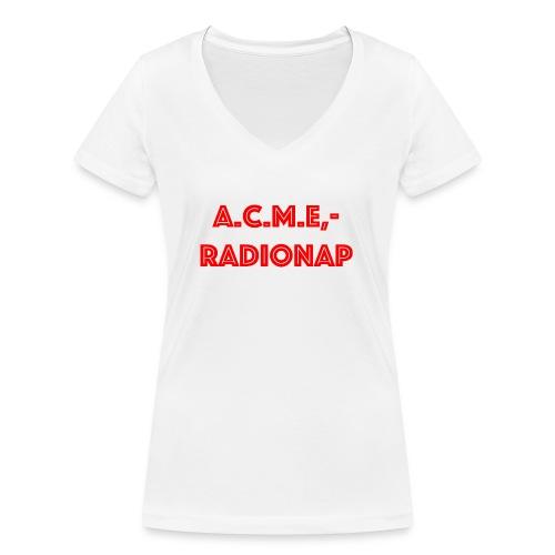 acmeradionaprot - Frauen Bio-T-Shirt mit V-Ausschnitt von Stanley & Stella