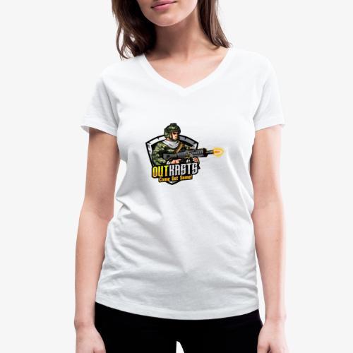 OutKasts [OKT] Logo 2 - Women's Organic V-Neck T-Shirt by Stanley & Stella