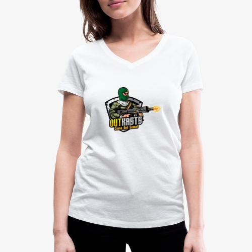 OutKasts [OKT] Logo 1 - Women's Organic V-Neck T-Shirt by Stanley & Stella