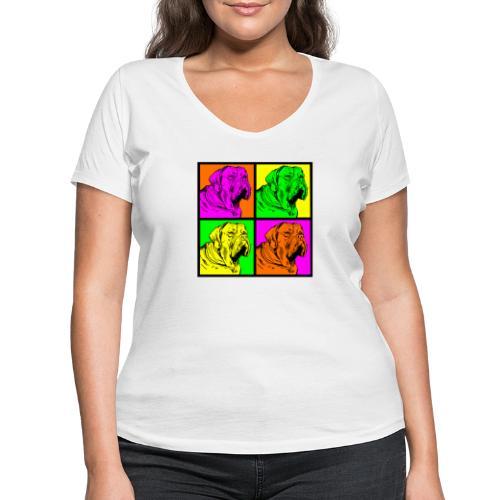 Bouledogue Anglais Couleur - T-shirt bio col V Stanley & Stella Femme