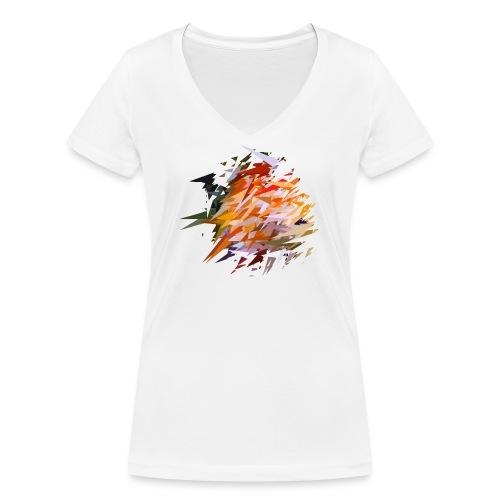 Buntbarsch / Discusfish / Symphysodon - Frauen Bio-T-Shirt mit V-Ausschnitt von Stanley & Stella