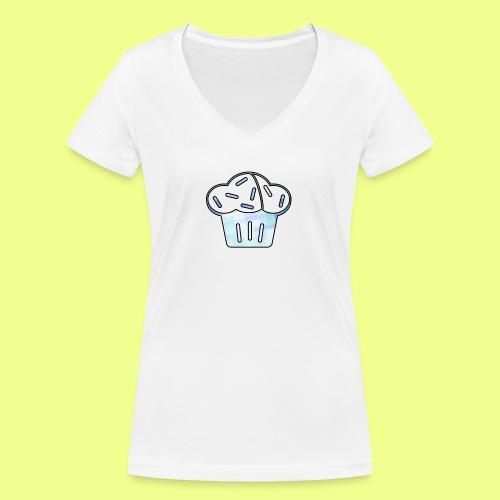 Pastel - Camiseta ecológica mujer con cuello de pico de Stanley & Stella