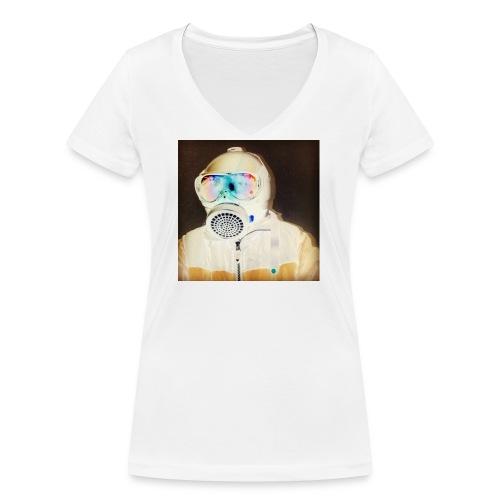Corotavirus-Maske covid 19 - Frauen Bio-T-Shirt mit V-Ausschnitt von Stanley & Stella