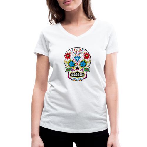skull5 - T-shirt ecologica da donna con scollo a V di Stanley & Stella