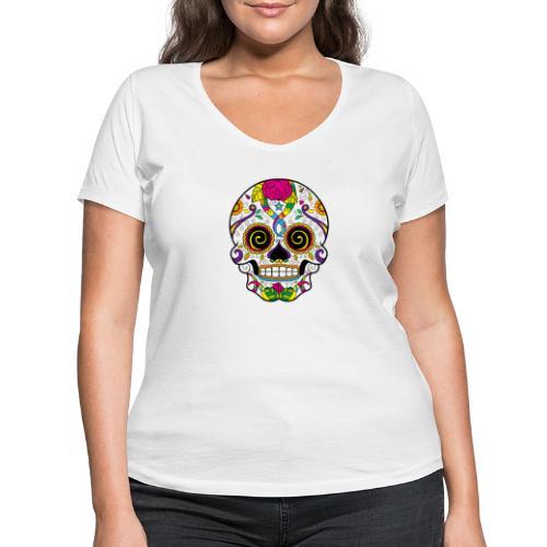 skull3 - T-shirt ecologica da donna con scollo a V di Stanley & Stella